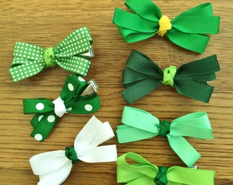 St. Patrick's Day green baby hair bows