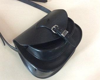 Handbag genuine leather, handmade in France by Koffpolo
