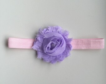 SALE! Pastel pink and purple baby headband