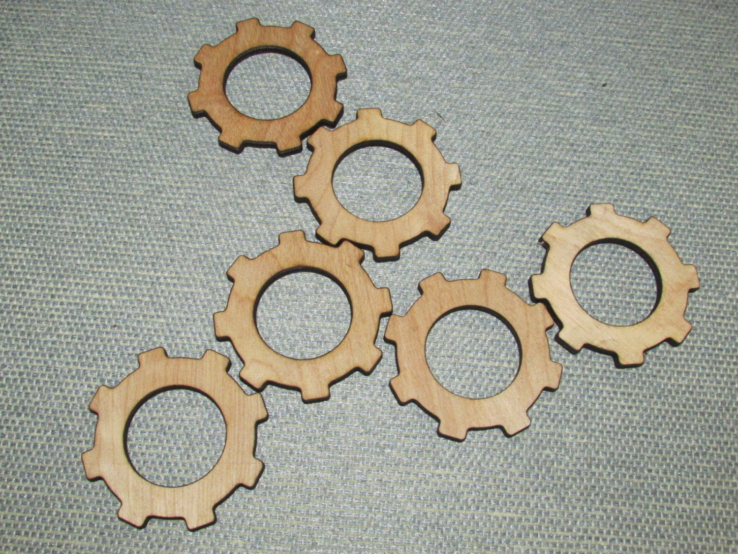 Wall Decor Gears : Lot of wood wooden gears steampunk wall art decor