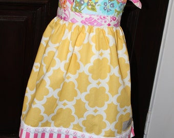 Girls Boutique Knot Dress Size 3T Ready to ship