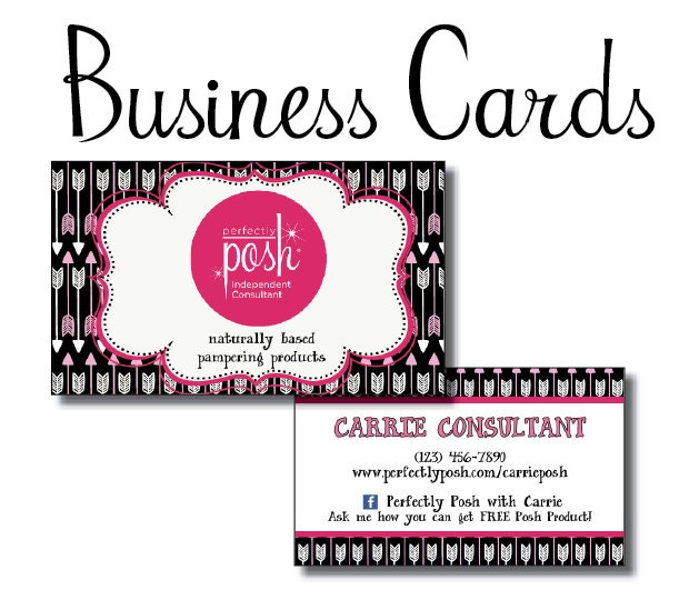 perfectly posh diy business cards for by southernprinting on etsy. Black Bedroom Furniture Sets. Home Design Ideas