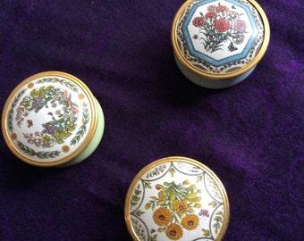 The Shakespeare Garden- Cloisonné enamel boxes