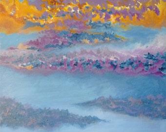 Original landscape painting - Sunset (Eyjafjöll 04)