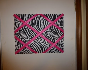 Pink Zebra French Messenger Board
