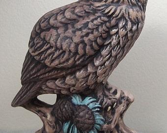 Owl, Horned Owl, Ceramic Owl, Hand Painted Owl, Hand Painted Ceramics