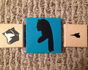 READY TO SHIP Pocahontas Meeko and Flit Multiple Canvas Set of 3