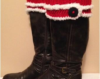 Christmas Crochet Boot Cuffs