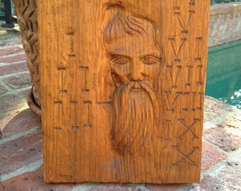 Old Man Wall Art Wood Carving Netherlands