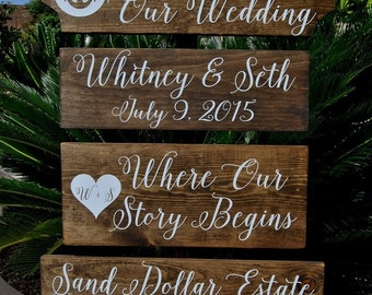 WeLCoMe WeDDiNg SiGn - Large PeRsoNaLiZeD BeaCH SiGn - ReCepTioN SiGn - NauTiCaL WeDDiNg SiGn - AnCHoR SiGn - RuSTiC and STaiNeD - 4ft Stake