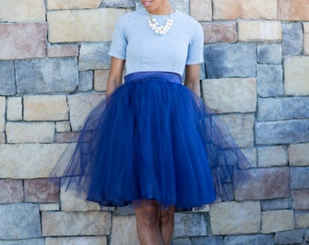 NAVY Tullie ( A Tulle Skirt with Pockets)