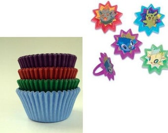 Pokemon Rings with Assorted Color Baking Cups
