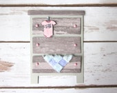 Congratulations Baby Girl Card / Baby Shower Card / New Baby / Newborn / Dresser / Elephant Onesie / Baby Blanket