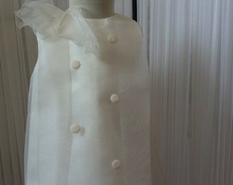 dress size 3 months of organza stamped for christening