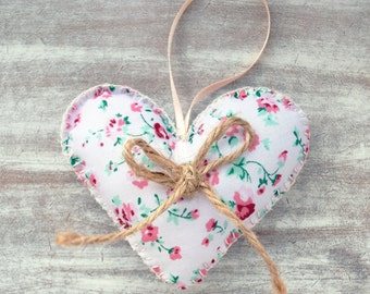 Fabric Country Style Hanging Heart