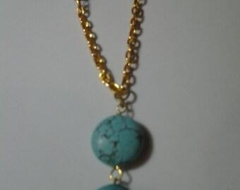 Aqua Turquoise Necklace