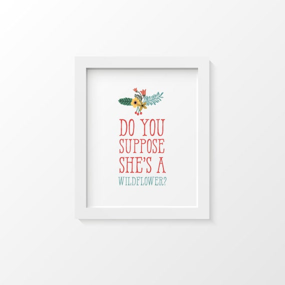 Alice In Wonderland Prints Decor Home Art Print Inspirational