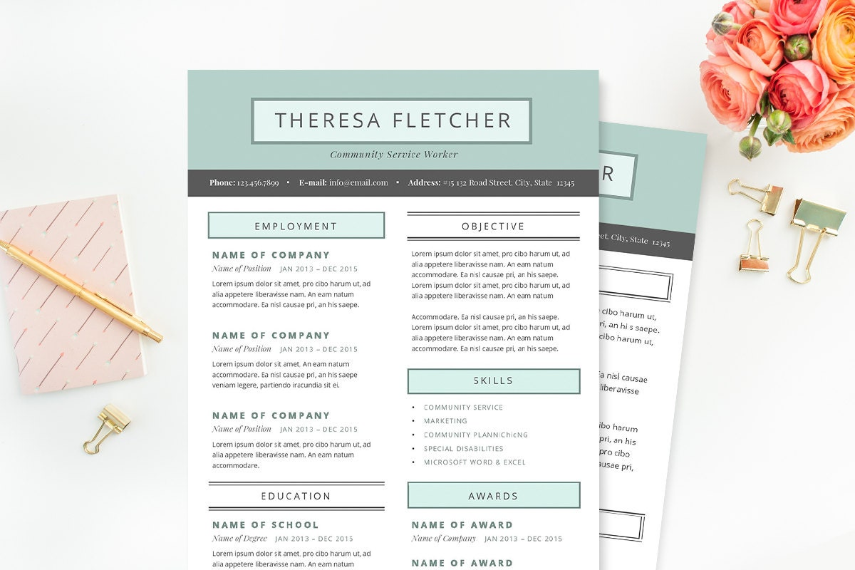 chic resume cover letter template clean template package design cover letter 128270zoom