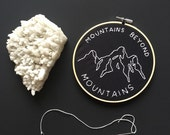 """Mountains Beyond Mountains // 6"""" Embroidery Hoopart, Black"""