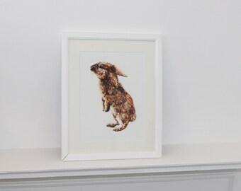 Watercolour Rabbit Fine Art PRINT