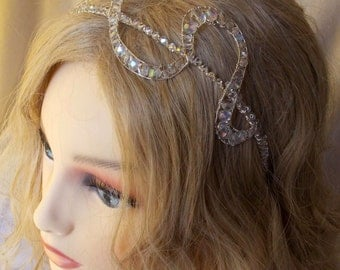 Brides diadem bride headpiece with Austrian and Czech crystals
