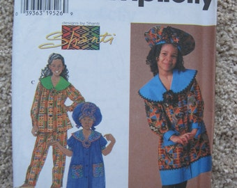 UNCUT Girls Dress, Top, Pants and Hat - Simplicity Sewing Pattern 7367