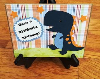 Dinosaur Birthday Card | Birthday Card for Boy | Handmade Card | Cute Birthday Card