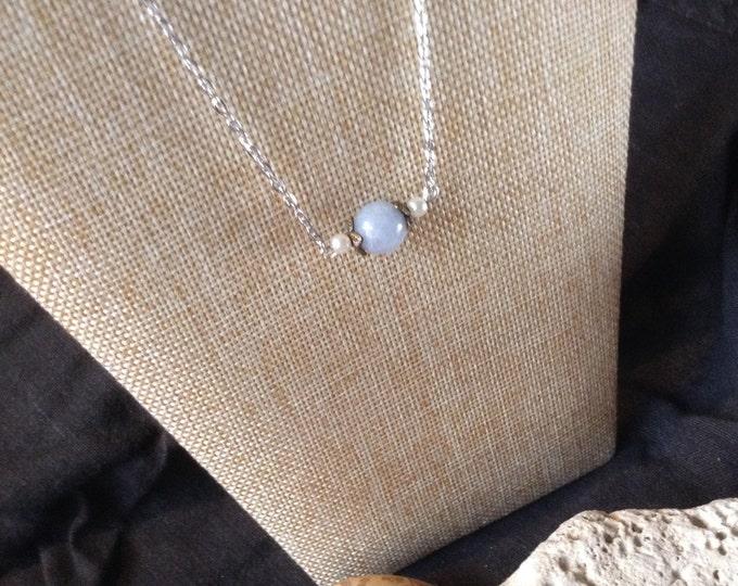 Aquamarine Pearl Necklace