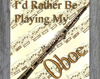 Mouse Pad - I'd Rather Be Playing My Oboe