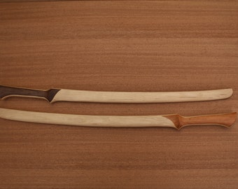 Elven Fighter Sword-Straight Grip- Handcrafted fromolid American Hickory