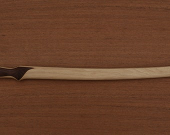 Elven Short Sword- Curve Grip- Handcrafted from Solid American Hickory