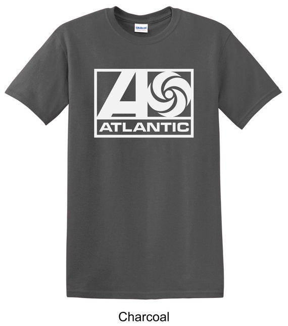 Atlantic records vintage record label tee shirt long by for Vintage record company t shirts