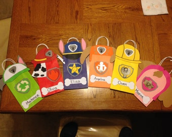 Paw Patrol gift/favor bags