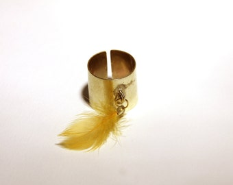 Brass with feather ring