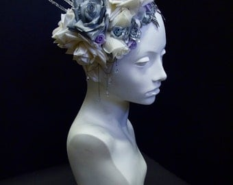 Ice Queen Floral Headpiece
