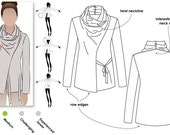 Women's Sewing Pattern - Elita Designer Top - Sizes 6, 8, 10 - Double Twisted Collar PDF Pattern by Style Arc