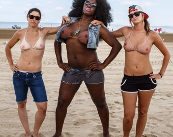 Funny bikini offers a topless Illusion... it's the perfect gift idea for holidays or bachelorette party! #freethenipple Censorship Sucks!