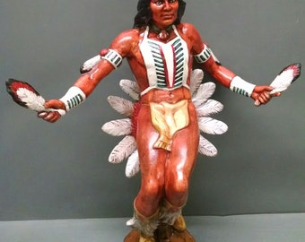 SALE!!!Sun Dancer--Native American Indian Figurine--Heirloom Quality--Hand-painted Ceramic--Home Decor--Native American Art