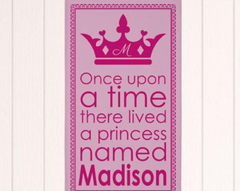 Princess Wall Canvas- Personalized