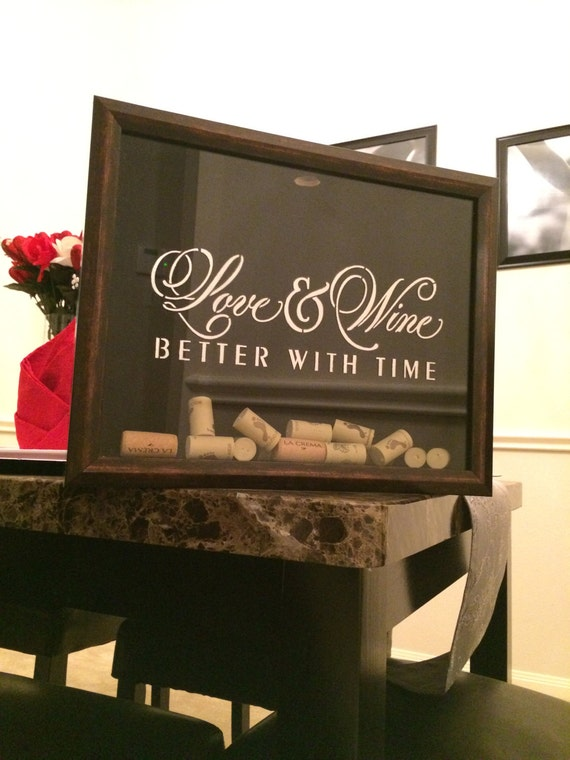 Wine Cork Holder Frame - Love & Wine Better With Time
