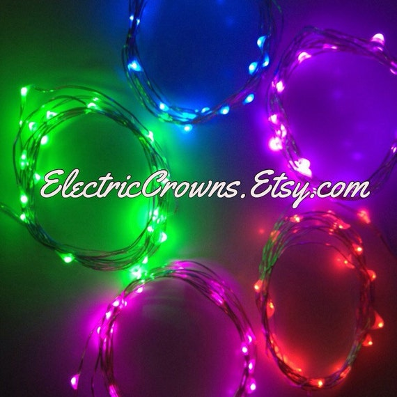 Mini Led String Lights Electric : Blue String Lights Pink Red White Led Lights Light Up