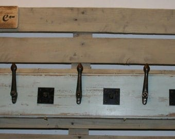 Rustic and Up cycled Shabby Chic Coat rack