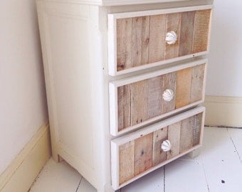 Modern Rustic Bedside Table/3 Drawer Chest