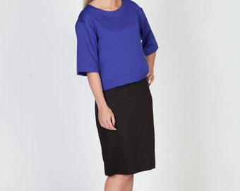 Royal Blue Top with 3/4 sleeves