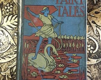 Hans Andersen's Fairy Tales, c1900, Vintage Victorian Children's Book