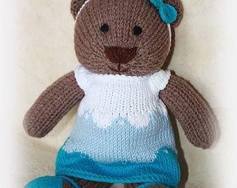 Crochet toy teddy bear Kids Toy Knit Teddy Bear Plush Doll Small Toy Stuffed Bear Small Toy