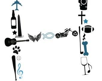 Personalized Monogram Collage