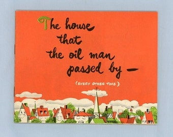 General Electric Advertising Brochure, Children's Story, New GE Furnace, House, Family, Warmth