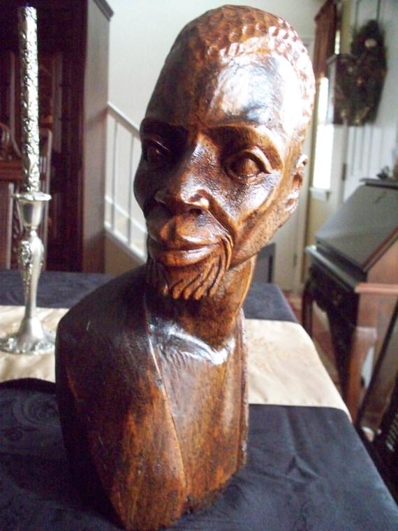 Sculpture Africaine En Bois - Articles similairesà Sculpture africaine, sculpture sur bois tribu, visage africain, t u00eate d