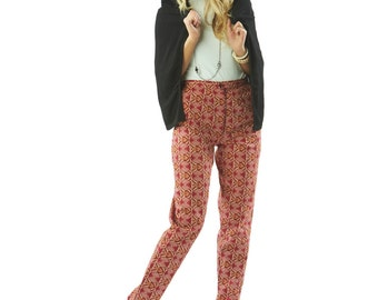 Audrey 70s Style Print Tapered Trousers